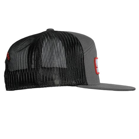 Lets Rope Grey w/Red Patch Cap