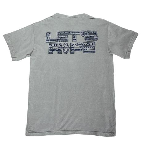 Lets Rope Grey w/Aztec Blue Print Tee