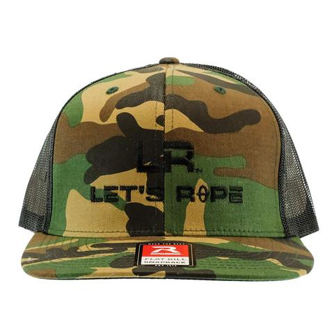 Let's Rope Flat Bill Camo Meshback Cap
