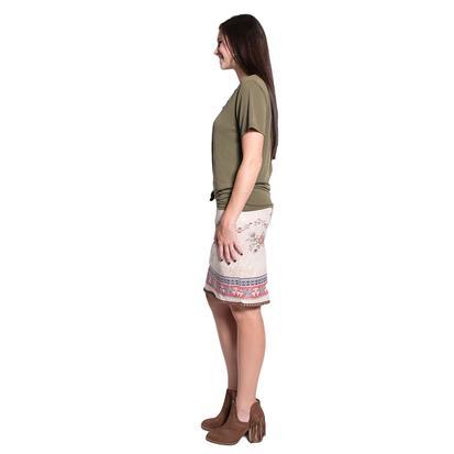 Wrangler Womens Floral Print Cream Skirt