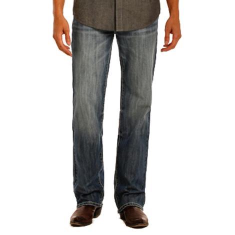 Rock & Roll Cowboy Vintage Double Barrel Straight Leg Medium Wash Jeans