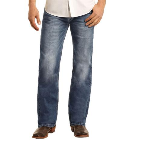 Rock and Roll Cowboy Double Barrel Straight Medium Wash Men's Jeans