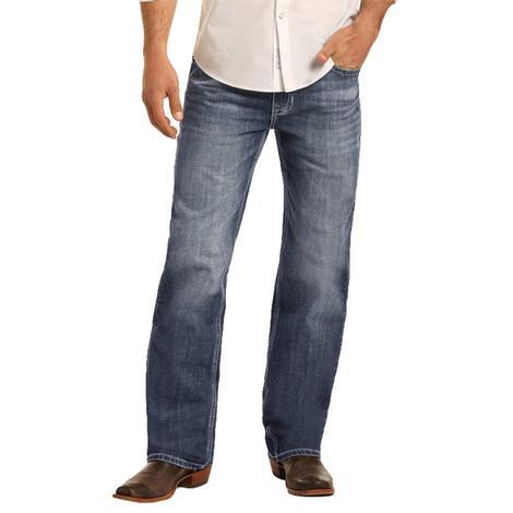 Rock and Roll Cowboy Double Barrel Straight Medium Vintage Wash Men's Reflex Jeans