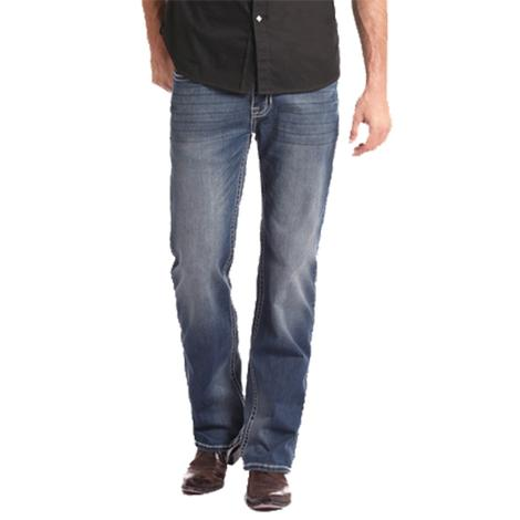 Rock & Roll Cowboy Double Barrel Medium Wash Jeans