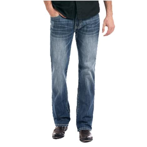 Rock and Roll Cowboy Mens Double Barrel Straight Leg Western Jeans