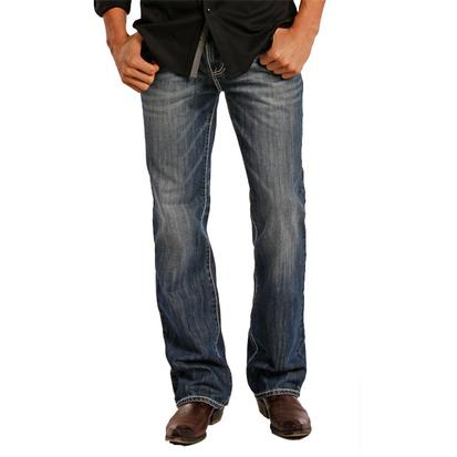 Rock & Roll Cowboy Mens Double Barrel Straight Leg Jeans