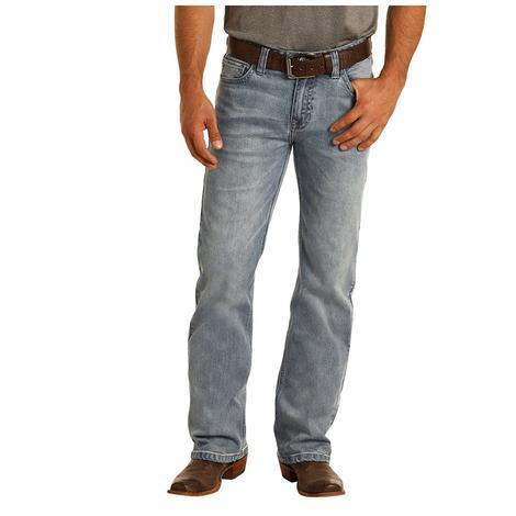 Rock and Roll Cowboy Double Barrel Straight Light Vintage Men's Jeans