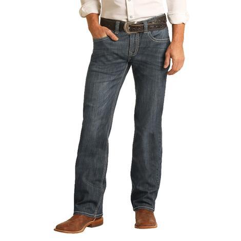 Rock and Roll Cowboy Pistol Straight Dark Vintage Men's Jeans