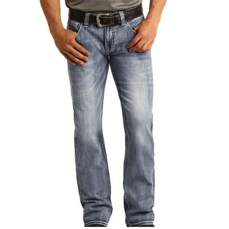 Rock and Roll Cowboy Pistol Straight Medium Vintage Men's Jeans