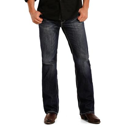 Rock & Roll Cowboy Mens Pistol Low Rise Straight Leg Jean