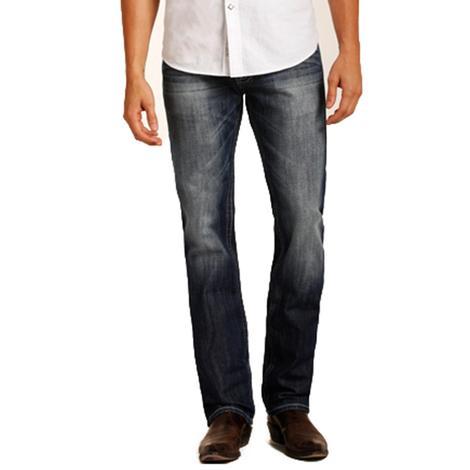 Rock & Roll Cowboy Mens Revolver Straight Leg Medium Wash Jeans