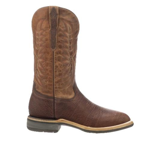 Lucchese Rudy Chocolate Cowhide Men's Barn Boots