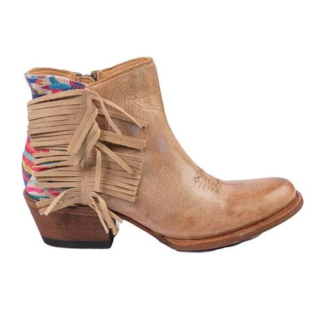 Macie Bean Womens Me Otomi My Tan Fringe Shortie Boot