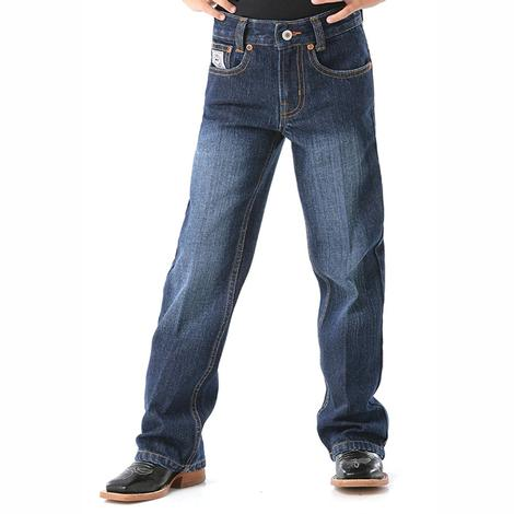 Cinch Boys White Label Traditional Rise Slim Jeans - Dark Stonewash