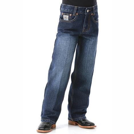 Cinch Boys White Label Regular Original Fit Jeans - Dark Stonewash