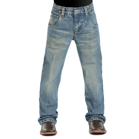 Cinch Boys Tanner Slim Fit Jeans - Medium Stonewash