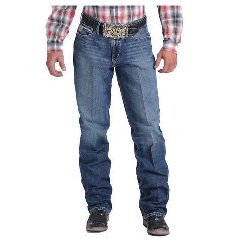 Cinch Mens Sawyer Loose Fit Medium Stonewash Western Jeans