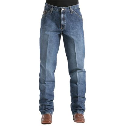 Cinch Mens Blue Label Carpenter Relaxed Tapered Leg Jean - Medium Vintage Stonewash