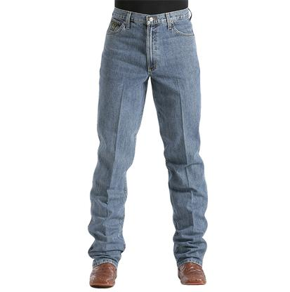 Cinch Mens Green Label Original Fit Relaxed Tapered Leg - Medium Stonewash