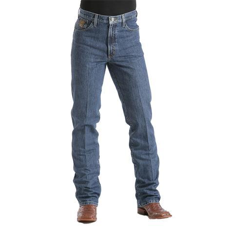 Cinch Mens Bronze Label Slim Fit Original Rise Tapered Leg Jean - Dark Stonewash