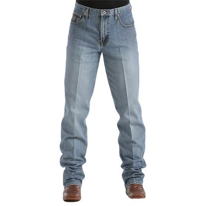 Cinch Black Label Original Rise Relaxed Fit Tapered Leg Medium Stonewash Men's Jeans