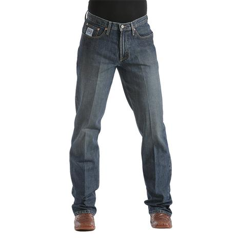 Cinch Mens White Label Relaxed Fit Straight Leg Jean - Dark Stonewash