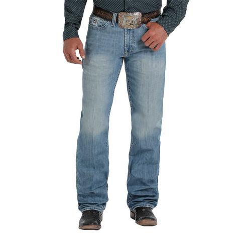 Cinch White Label Light Wash Straight Leg Men's Jeans