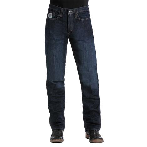 Cinch Mens Western Denim Silver Label Dark Wash Jeans