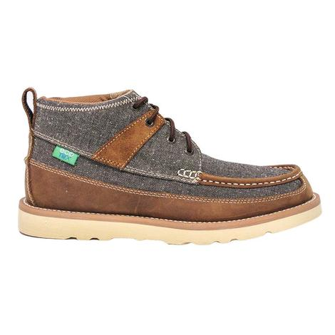 Twisted X Mens ECO Grey & Brown Lace Casual Shoes