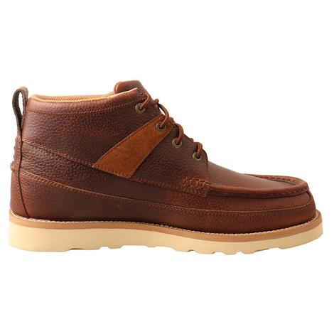 Twisted X Brown Wedge Sole Lace Up Men's Boots