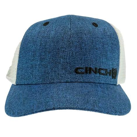 Cinch Heather Blue White Meshback Cap