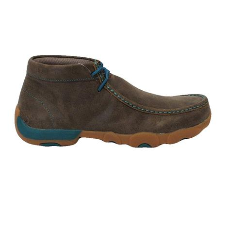 Twisted X Mens Bomber and Turquoise Driving Moc