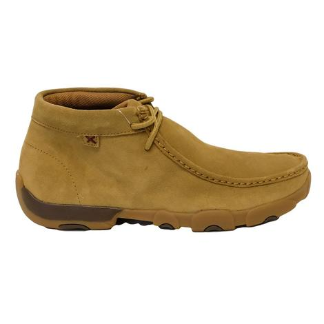 Twisted X Tan Laceup Men's Driving Moc