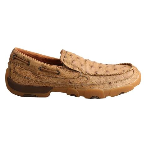 Twisted X Ostrich Slip On Men's Bomber Shoes