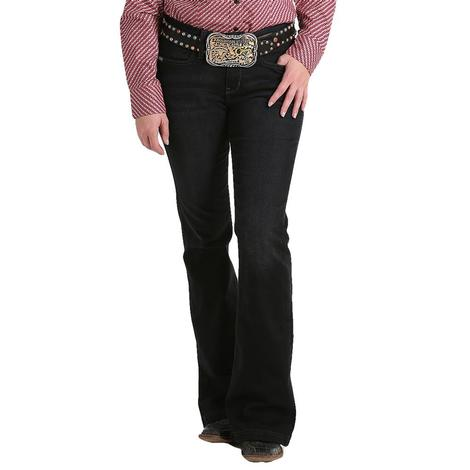 Cinch Lynden Black Moderate Rise Women's Trouser