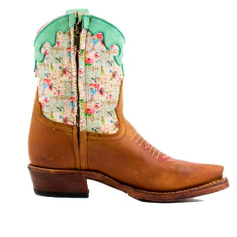 Macie Bean Kids Multi Color Floral Print Top Boots