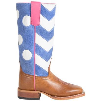 Macie Bean Girls Chevrons and Polka Dots Boots