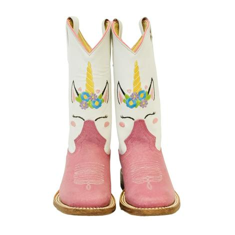 Macie Bean Pink Unicorn Kid Boots