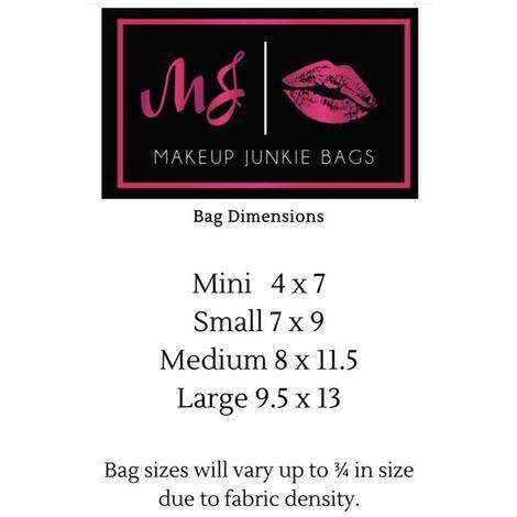 Makup Junkie Safari Pearl Makeup Bag - Size Large