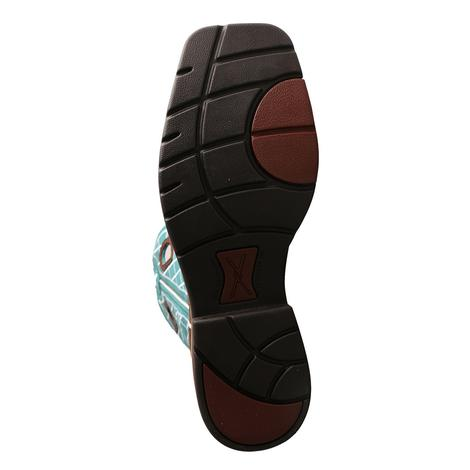 Twisted X Mens Lite Work Turquoise Pull On Steel Toe Boot