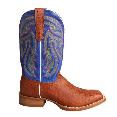 Twisted X Men's Brandy Smooth Ostrich Avatar Blue Rancher Boot