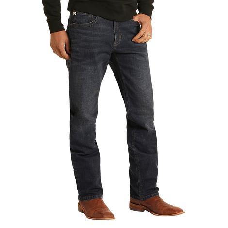 Rock and Roll Cowboy Hooey Stackable Dark Vintage Bootcut Men's Jeans