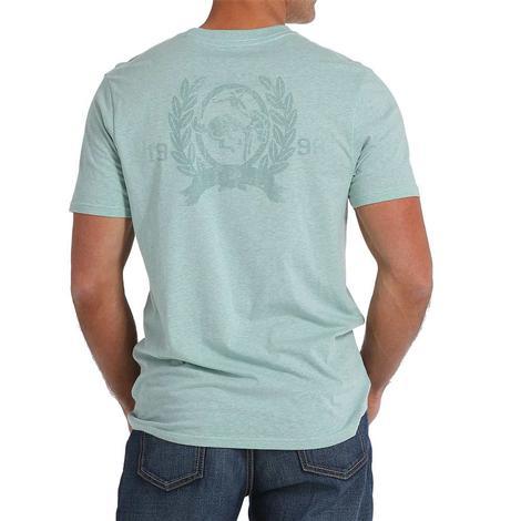 Cinch Mens Heather Teal Logo T-Shirt