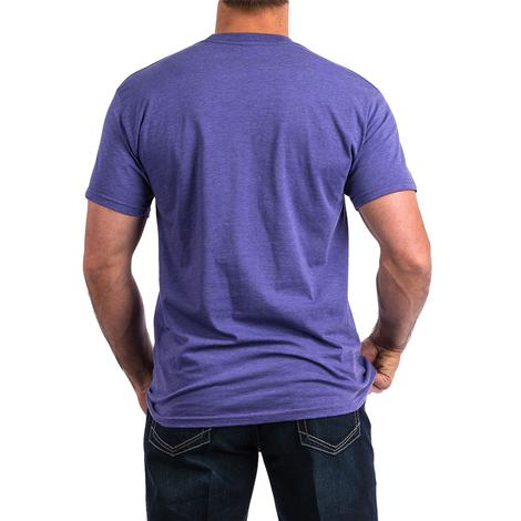 Cinch Heather Purple Jean Logo Men's T-Shirt