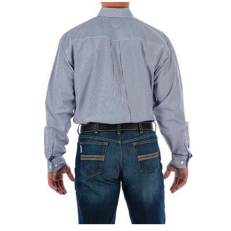 Cinch Mens Royal Tencil Stripe Long Sleeve Western Shirt