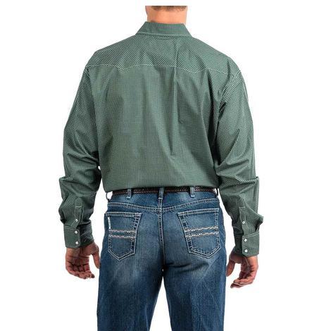 Cinch Green Print Long Sleeve Snap Men's Shirt