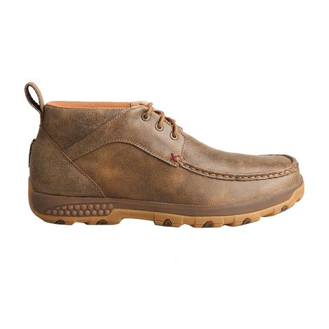 Twisted X Brown Stretch Men's Moccasin