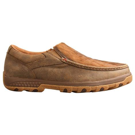 Twisted X Slip on Driving Moc Brindle Men's Bomber
