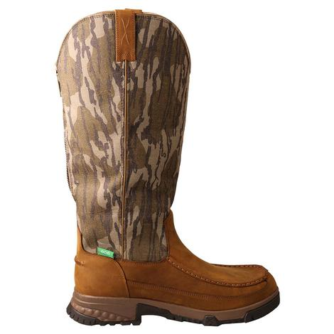 """Twisted X 17"""" Men's Snake Boots with Zipper"""