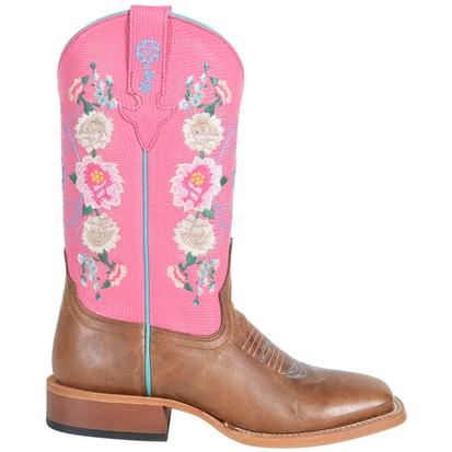 Macie Bean Youth Honey Bunch and Rose Lizard Print Boots